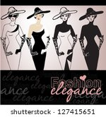 illustrated beautiful elegant... | Shutterstock .eps vector #127415651