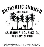 california authentic summer ... | Shutterstock .eps vector #1274163697