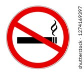 no smoking sign caution warn... | Shutterstock .eps vector #1274169397
