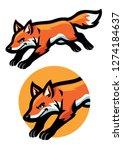 jumping fox mascot | Shutterstock .eps vector #1274184637