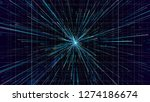 3d abstract technology... | Shutterstock . vector #1274186674