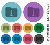 compressed folder darker flat... | Shutterstock .eps vector #1274187127