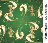 golden ornate illustration for...   Shutterstock . vector #1274201287