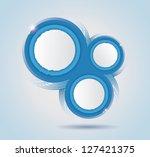 blue circles template. eps10.