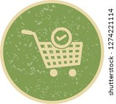 vector verified cart items icon  | Shutterstock .eps vector #1274221114