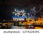 night photo of new year... | Shutterstock . vector #1274224291