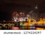 night photo of new year... | Shutterstock . vector #1274224297