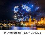 night photo of new year... | Shutterstock . vector #1274224321