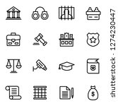 law and legal right icons pack. ... | Shutterstock .eps vector #1274230447