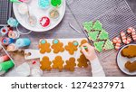 flat lay. step by step.... | Shutterstock . vector #1274237971