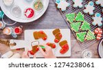 flat lay. step by step.... | Shutterstock . vector #1274238061