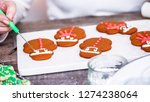 step by step. decorating... | Shutterstock . vector #1274238064