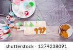 flat lay. step by step.... | Shutterstock . vector #1274238091