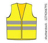 reflective yellow vest | Shutterstock .eps vector #1274246791