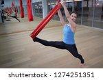 adult woman practices aero anti ... | Shutterstock . vector #1274251351