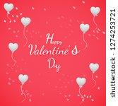 banner valentine day design for ...   Shutterstock .eps vector #1274253721