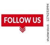 follow us sign   speech bubble  ... | Shutterstock .eps vector #1274253994