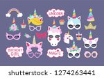 collection of photo booth props ... | Shutterstock .eps vector #1274263441