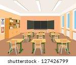 vector illustration of an empty ... | Shutterstock .eps vector #127426799