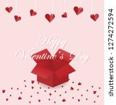 open the red valentine's day...   Shutterstock .eps vector #1274272594