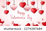 happy valentines day background ... | Shutterstock .eps vector #1274287684