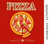 pizza menu template in vintage... | Shutterstock . vector #127429595