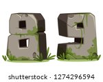 numbers 8   9 made of stone in... | Shutterstock .eps vector #1274296594