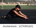 a beautiful girl wearing black... | Shutterstock . vector #1274301631