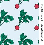 radish pattern. radish organic... | Shutterstock .eps vector #1274310781