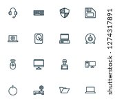 hardware icons line style set... | Shutterstock .eps vector #1274317891