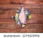 sea perch on a black board. sea ... | Shutterstock . vector #1274323954