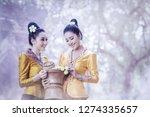 beautiful laos women wearing...   Shutterstock . vector #1274335657