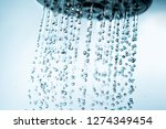 shower head and falling water... | Shutterstock . vector #1274349454