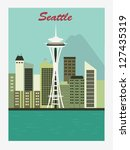 Seattle.Space Needle. Vector