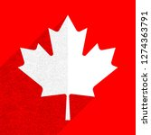 canadian flag the maple leaf... | Shutterstock .eps vector #1274363791