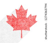 canadian flag the maple leaf... | Shutterstock .eps vector #1274363794