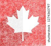canadian flag the maple leaf... | Shutterstock .eps vector #1274363797