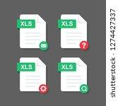 flat design with xls files... | Shutterstock .eps vector #1274427337