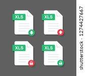 flat design with xls files... | Shutterstock .eps vector #1274427667
