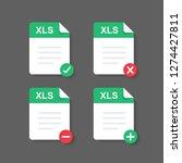flat design with xls files... | Shutterstock .eps vector #1274427811