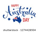 happy australia day lettering ... | Shutterstock .eps vector #1274428504