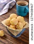 cheese bread balls bowl | Shutterstock . vector #1274438467