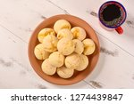 cheese bread ball on plate | Shutterstock . vector #1274439847