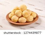 cheese bread ball on plate | Shutterstock . vector #1274439877