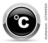 celsius vector steel icon.... | Shutterstock .eps vector #1274449324