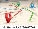 relistic abstract blured map of ... | Shutterstock .eps vector #1274449744