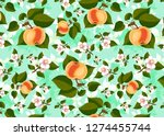 pattern with hand drawn apples ... | Shutterstock . vector #1274455744