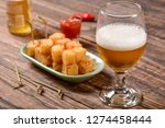 tapioca squares and pepper jelly | Shutterstock . vector #1274458444