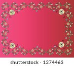 floral frame on a red background | Shutterstock .eps vector #1274463