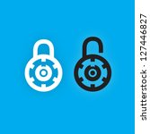 vector lock icon set | Shutterstock .eps vector #127446827